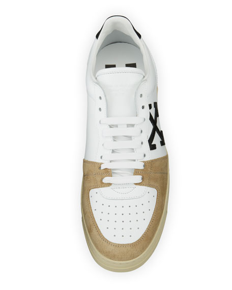 Men's 70s Leather & Suede Low-Top Sneakers, White/Black
