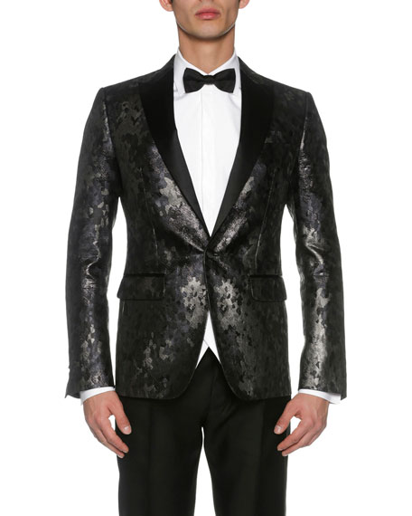 Dsquared2 London Jacquard Evening Jacket, Black/Gray