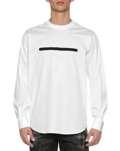 Poplin T-Shirt with Contrast Taping, White