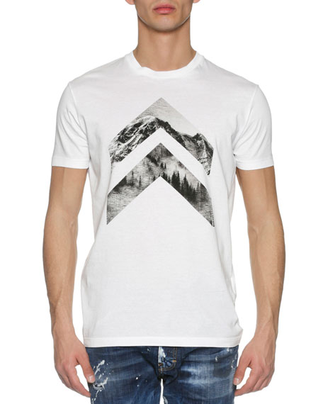 Dsquared2 Mountain Peaks T-Shirt, White