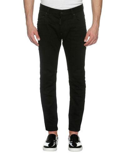 Clean Denim Skater Skinny Jeans, Bull (Black)