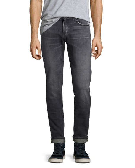 Men's Tyler Taper-Fit Comfort Stretch Jeans, Medium Gray