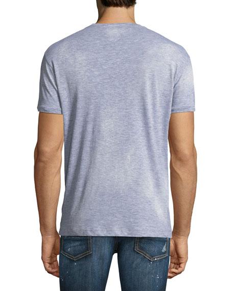 Logo-Typographic Distressed T-Shirt