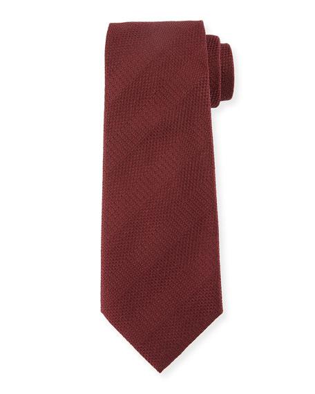 Tonal Striped Silk Tie, Red
