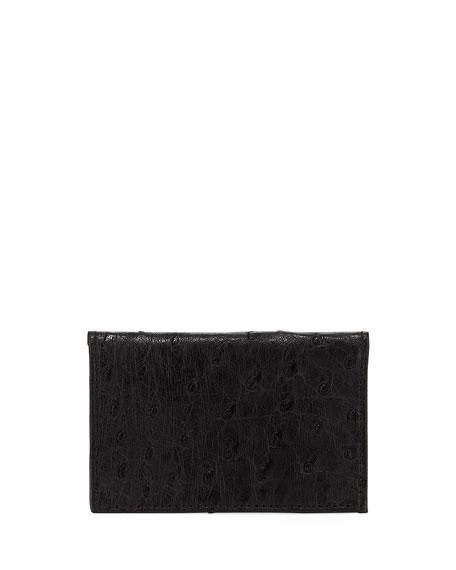 Ostrich Bi-Fold Card Case