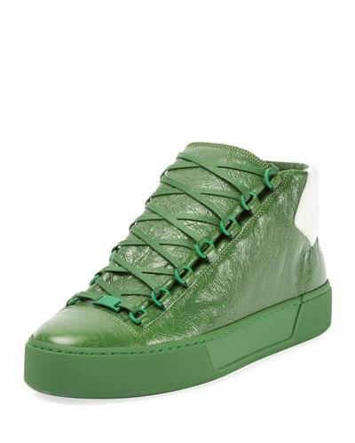 Men's Arena Leather Mid-Top Sneaker