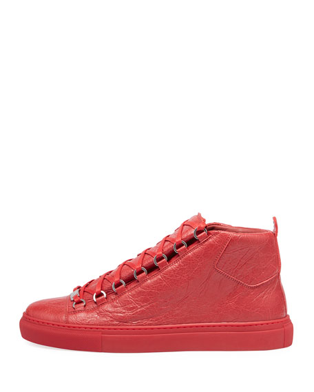 Men's Arena Leather Mid-Top Sneakers