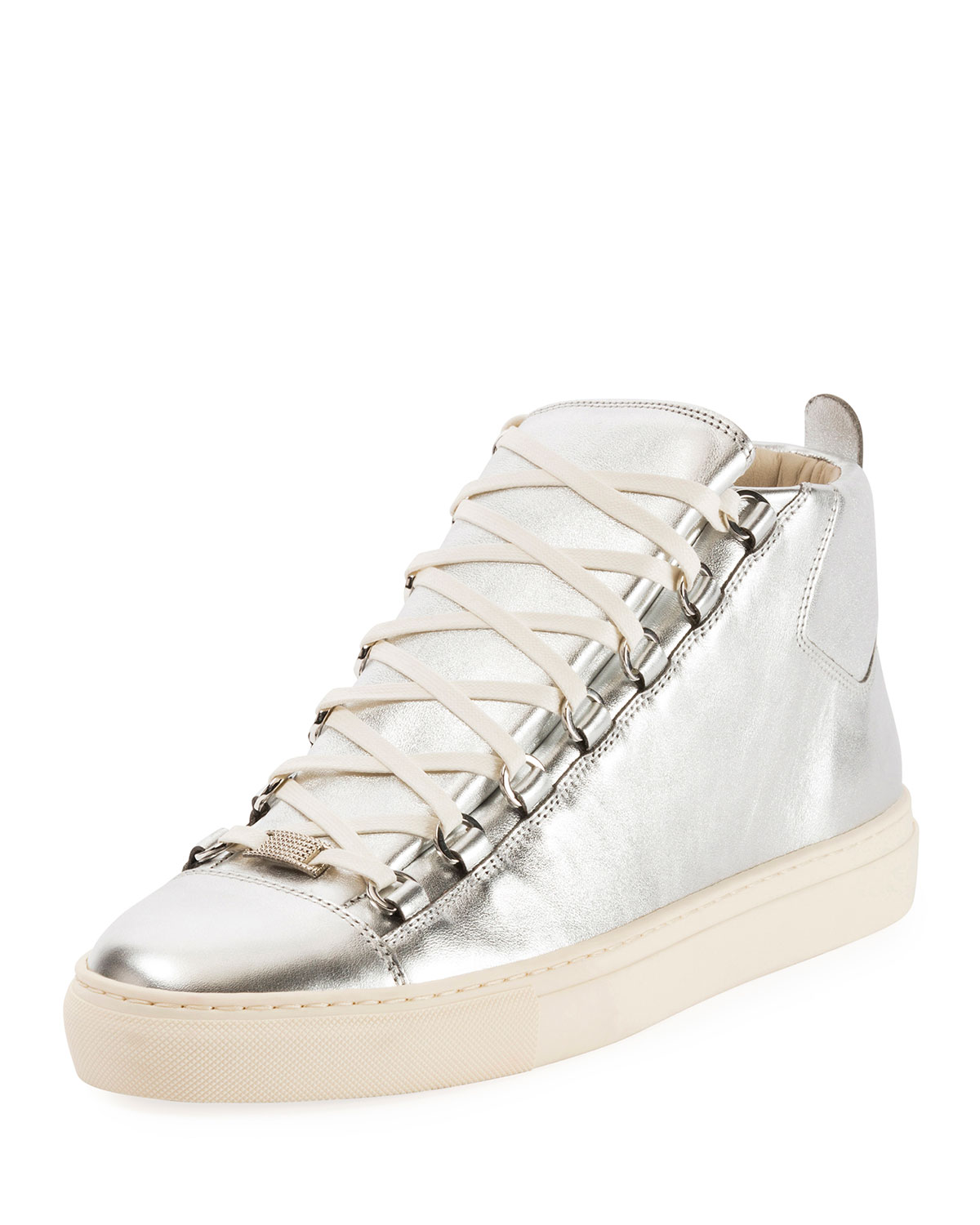 Balenciaga Men s Arena Metallic Leather High-Top Sneaker  ed6a199cda3b3