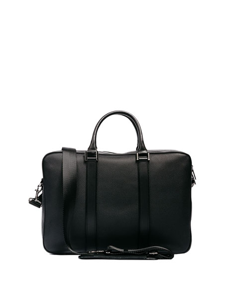 Formal Leather Briefcase, Black