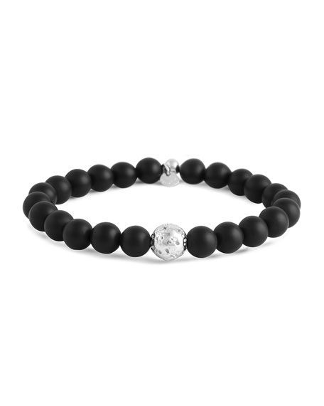 Men's Asteroid Onyx Bead Bracelet