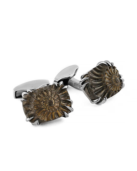 Tateossian Limited Edition Extinction Ammonite Claw Cuff Links
