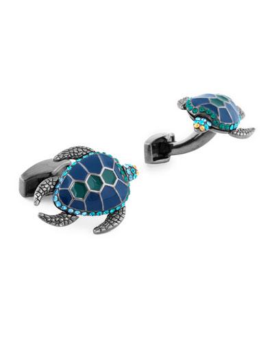 Mechanical Turtle Cuff Links