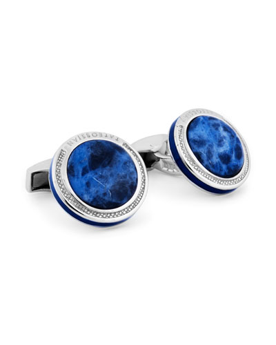 Signature Sodalite & Sterling Silver Cuff Links