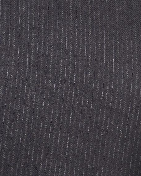 Flannel Stripe Wool Two-Piece Suit