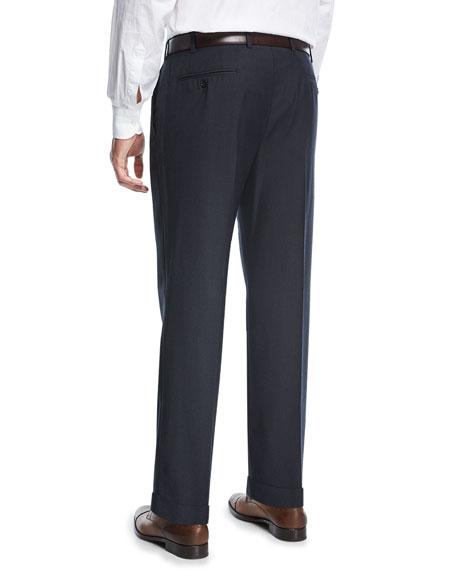 Solid Twill Wool Pants