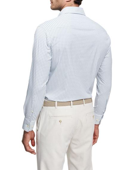 Crown Sport Waldorf Tattersall Performance Sport Shirt, White