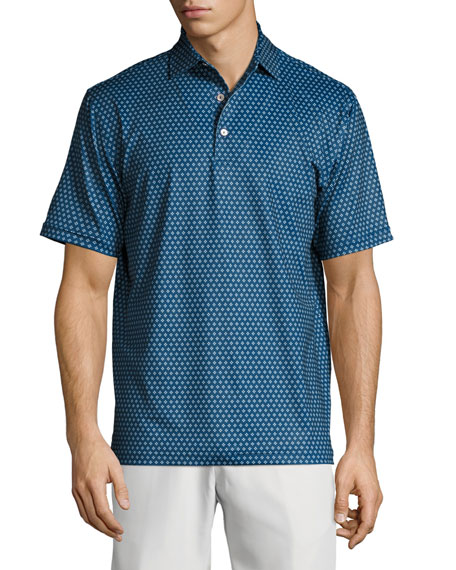 Peter Millar Crown Sport Bruce Dot-Print Performance Polo