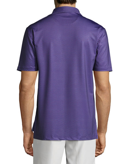 Crown Sport Mata Sunburst Polo Shirt, Blackberry