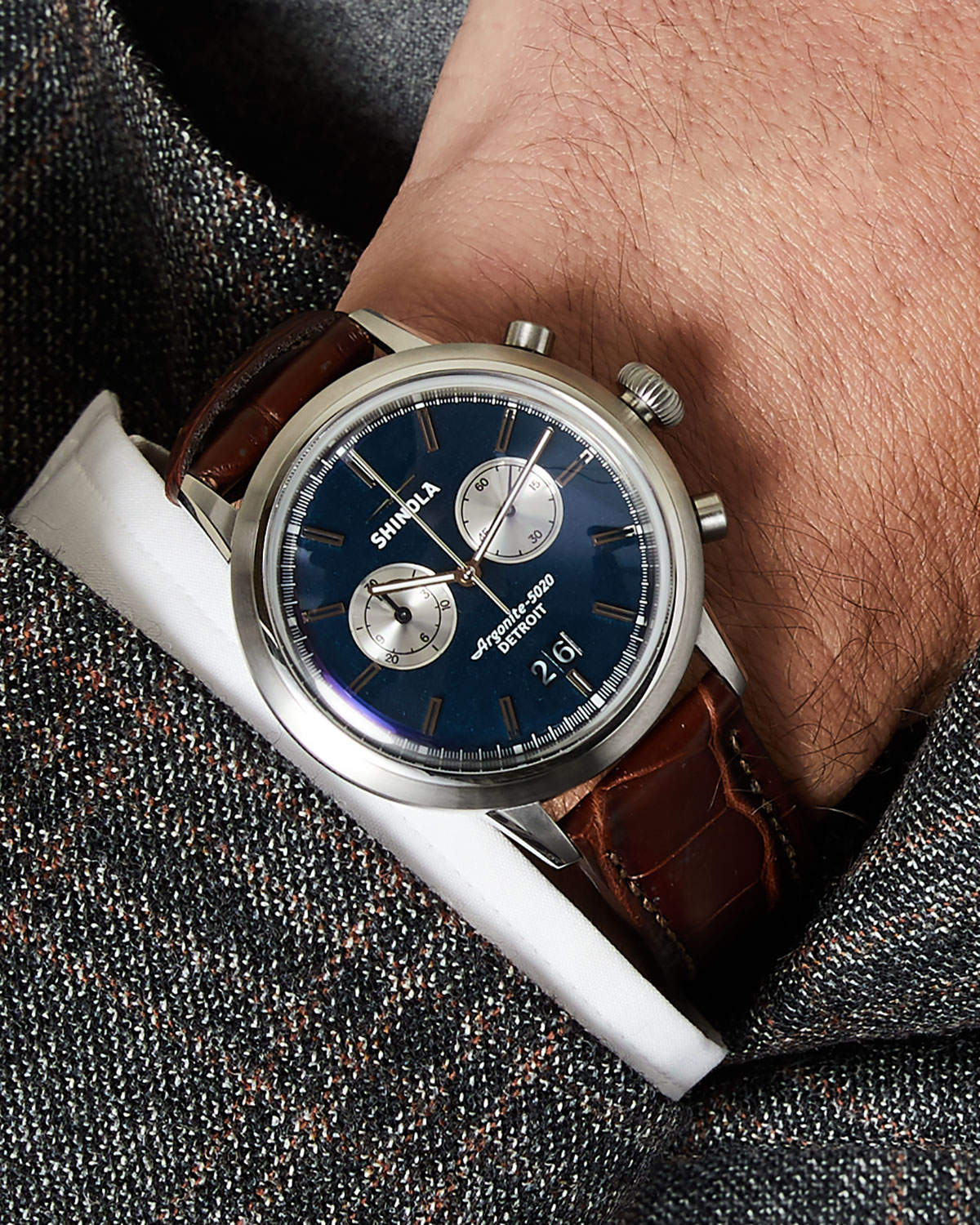 b4a8f2d2d Shinola Great Americans Series: The Jackie Robinson Limited Edition Bedrock  42mm Watch | Neiman Marcus