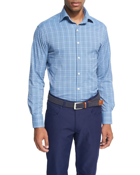 Peter Millar Crown Sport Honeycomb Glen Plaid Performance