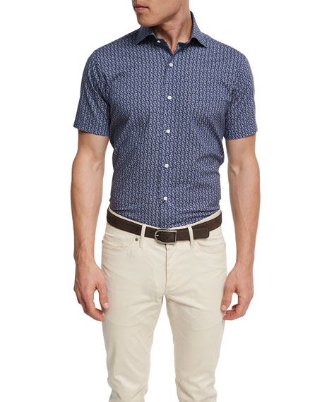 Peter Millar Collection Roman Holiday Short-Sleeve Sport Shirt,