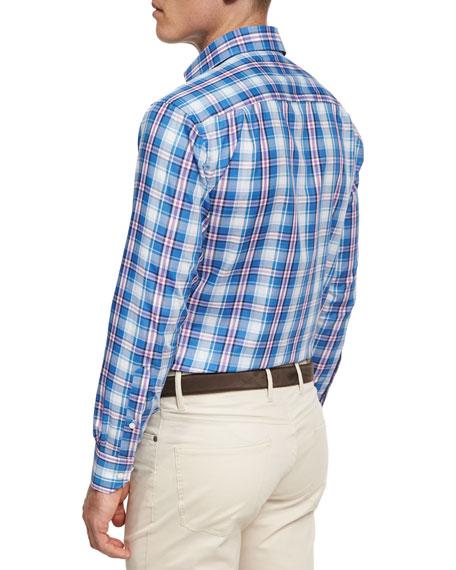 Collection Pianosa Plaid Sport Shirt, Dark Blue