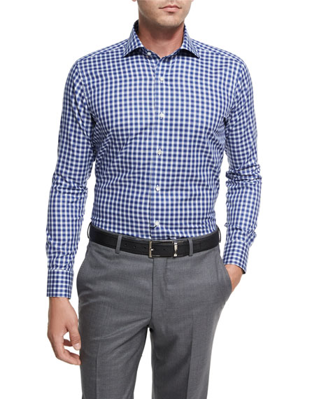 Peter Millar Collection Tangier Check Sport Shirt, Blue