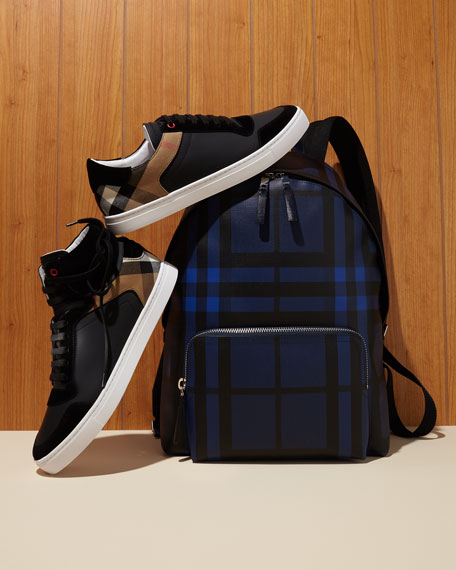Abbeydale London Check Backpack, Blue