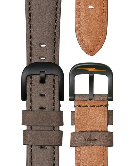 42mm Canfield Bolt Watch, Black/Gray
