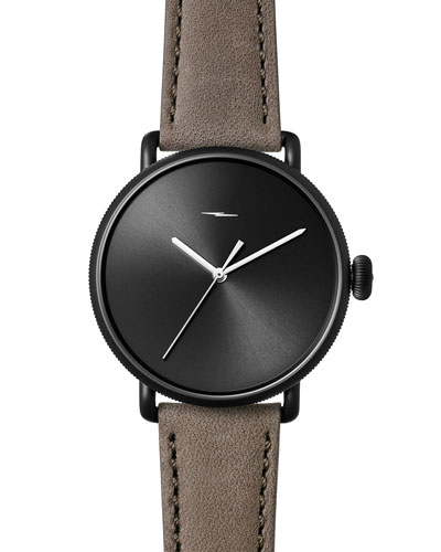 42mm Canfield Bolt Watch, Black/Gray