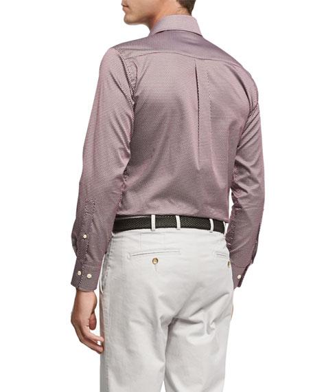 Single Flame Cotton Sport Shirt, Wine