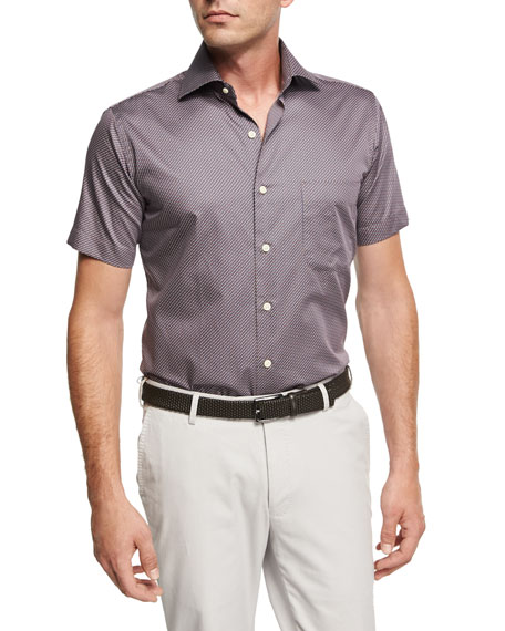 Peter Millar Glass Half Full Short-Sleeve Cotton Sport