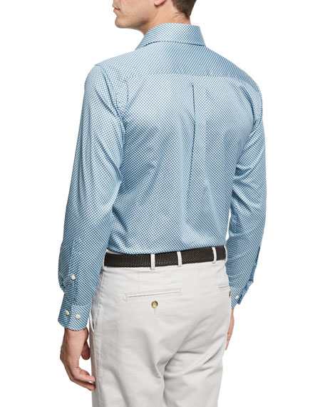 Pandora's Box Cotton Sport Shirt, Light Blue
