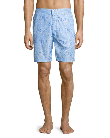 Peter Millar Collection Sardinia Streets Swim Trunks
