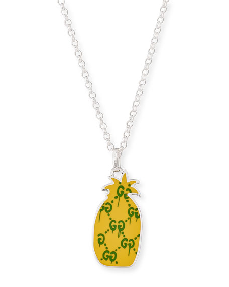 necklace chain pendant item necklaces statement smjel plated fruit gold link pineapple women