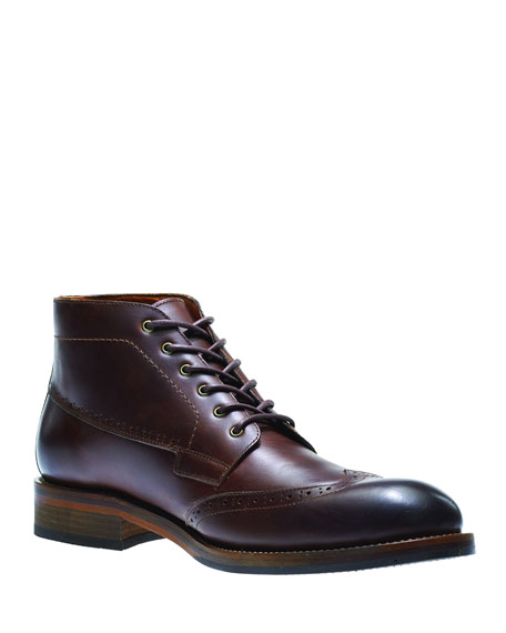 Harwell Leather Wing-Tip Boot
