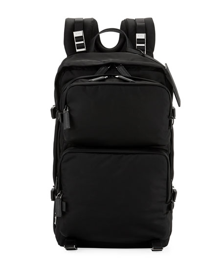Prada Multi-Pocket Nylon Backpack