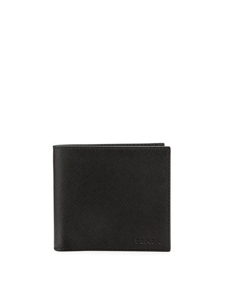 Prada Saffiano Leather Bi-Fold Wallet