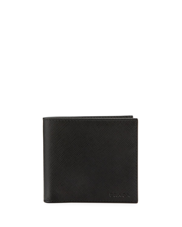 cefb23320f2b Prada Saffiano Leather Bi-Fold Wallet | Neiman Marcus