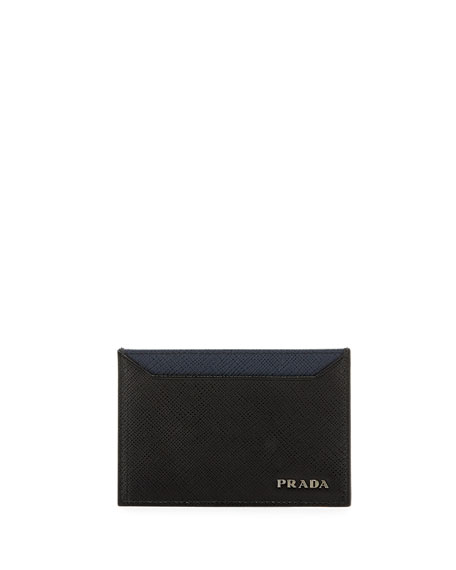 Prada Saffiano Bicolor Leather Card Case