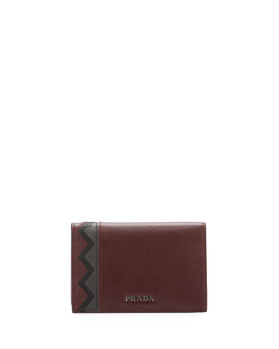 Greche Saffiano Leather Wallet