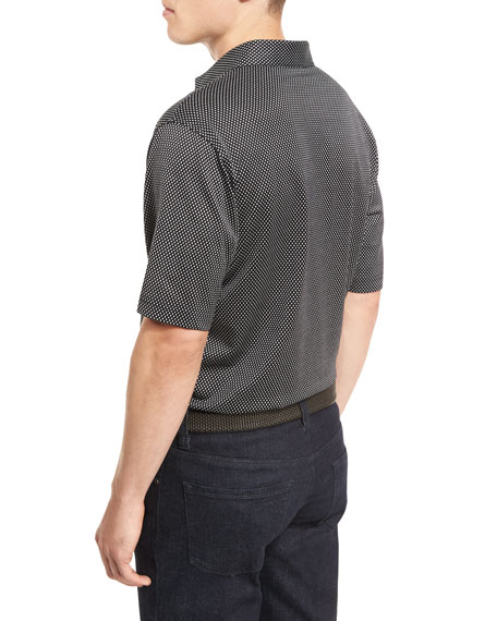 Grandview Diamond Jacquard Polo Shirt