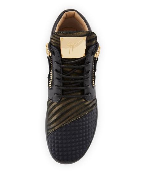 Pyramid Double-Zip Running Sneaker