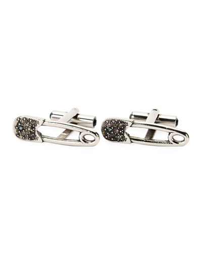 Safety Pin Cuff Links