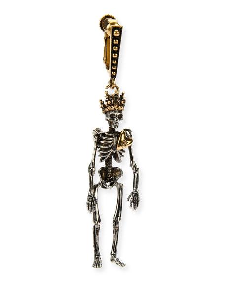 Alexander McQueen Queen Skeleton Clip-On Dangle Earring