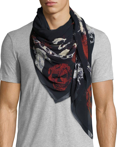 Men's Ransom Silk Scarf
