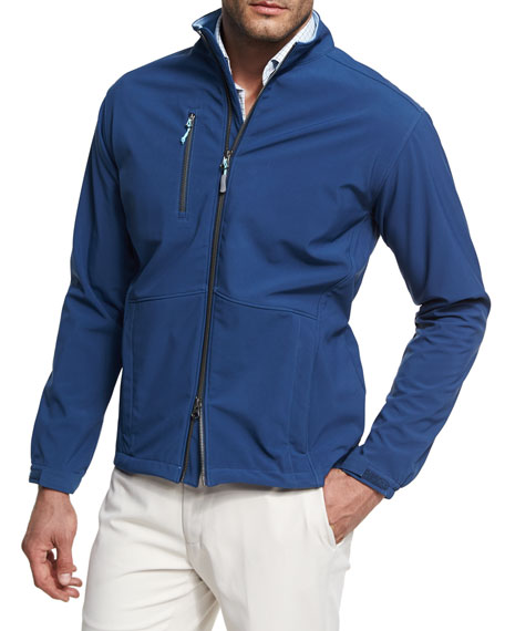 Peter Millar Anchorage Three-Layer Soft Shell Jacket, Midnight