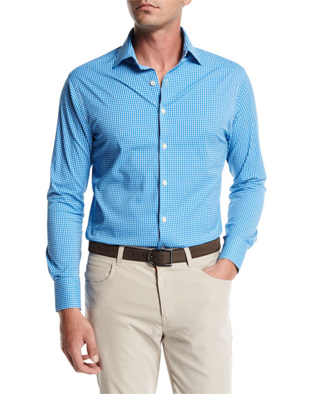 Peter Millar Crown Sport Statler Performance Check Shirt,