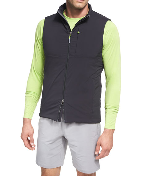 Peter Millar Bend Stretch Nylon Vest, Black