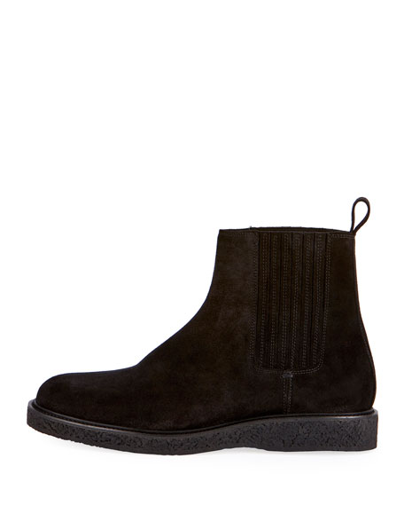 Hugo 25 Suede Chelsea Boot, Black